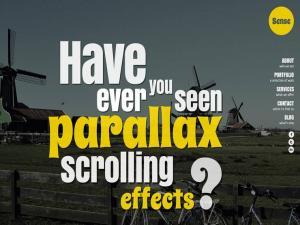 ما هو Parallax Scrolling